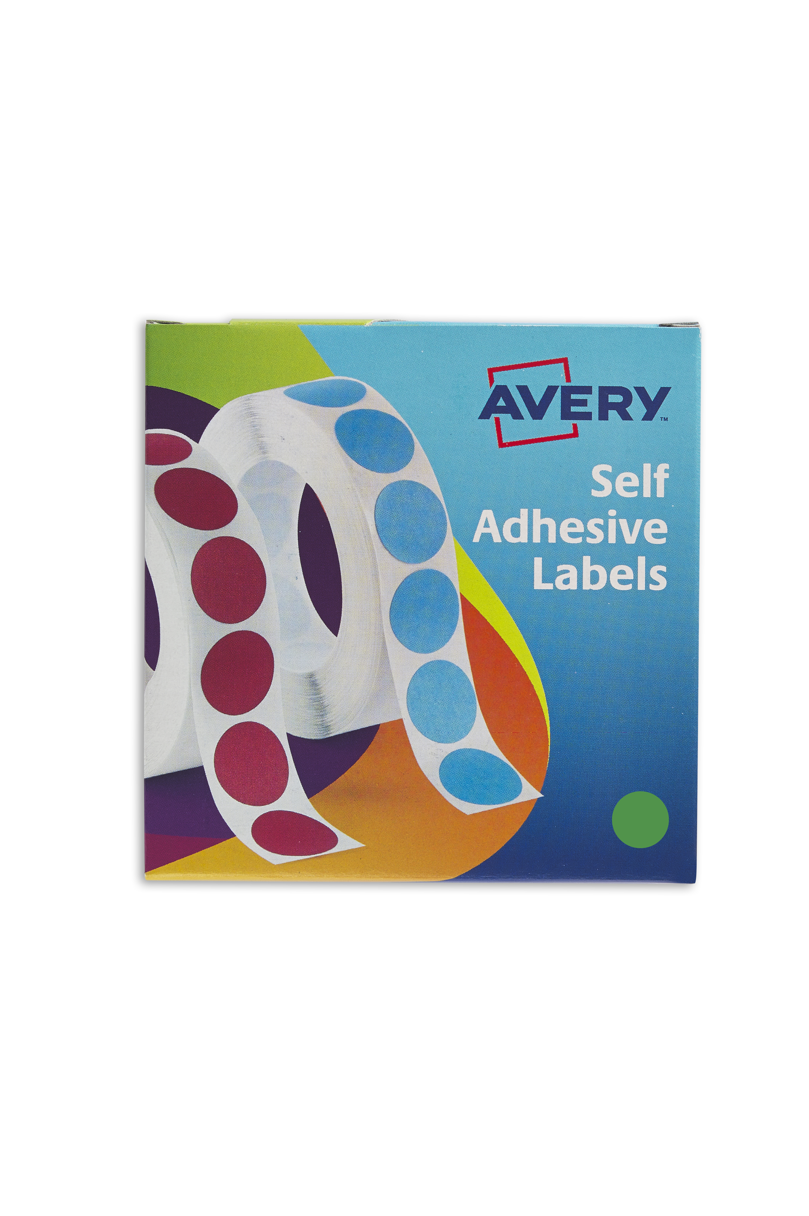 Coloured Labels Avery Labels in Dispenser Round 19mm Diameter Green 24-507 (1120 Labels)