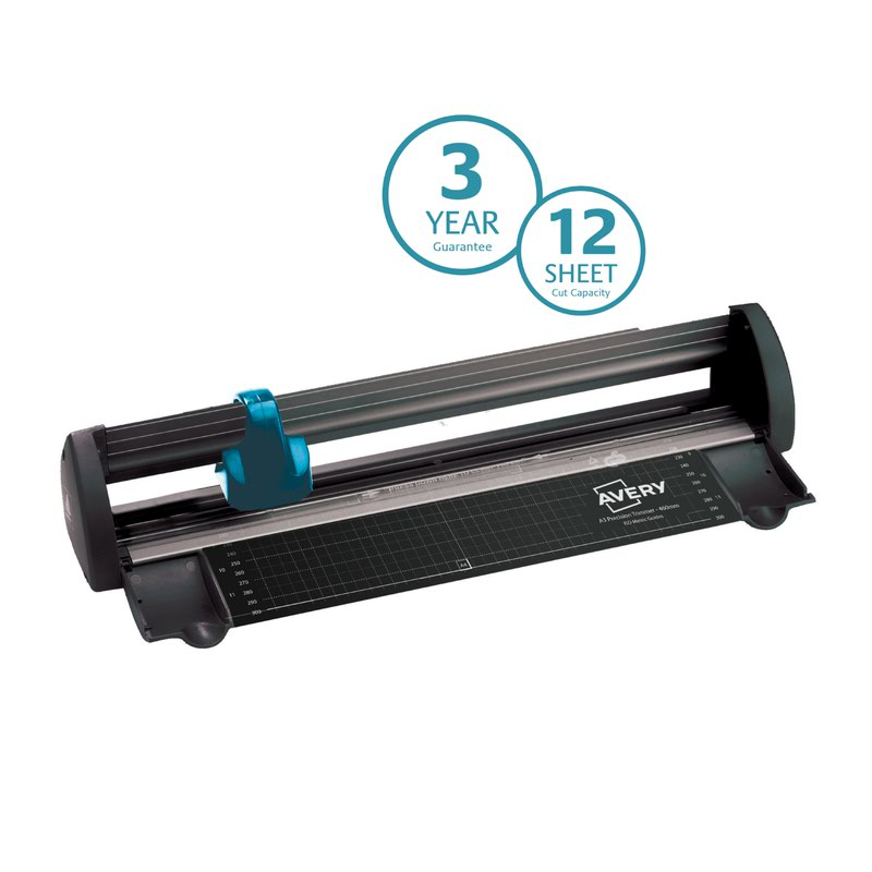 Trimmers Avery Compact Trimmer A3 Cutting Length 425mm Black/Teal A3CT