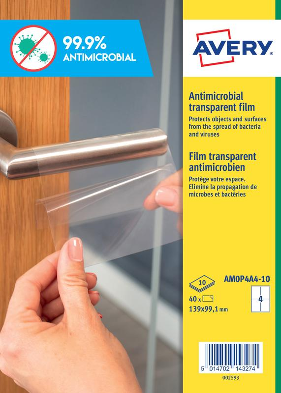 Antimicro Film A4 4 Per Sheet Pk10