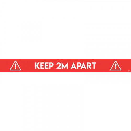 First Aid Avery Covid19 Red Social Distance Floor Sticker 100x14mm Pk2
