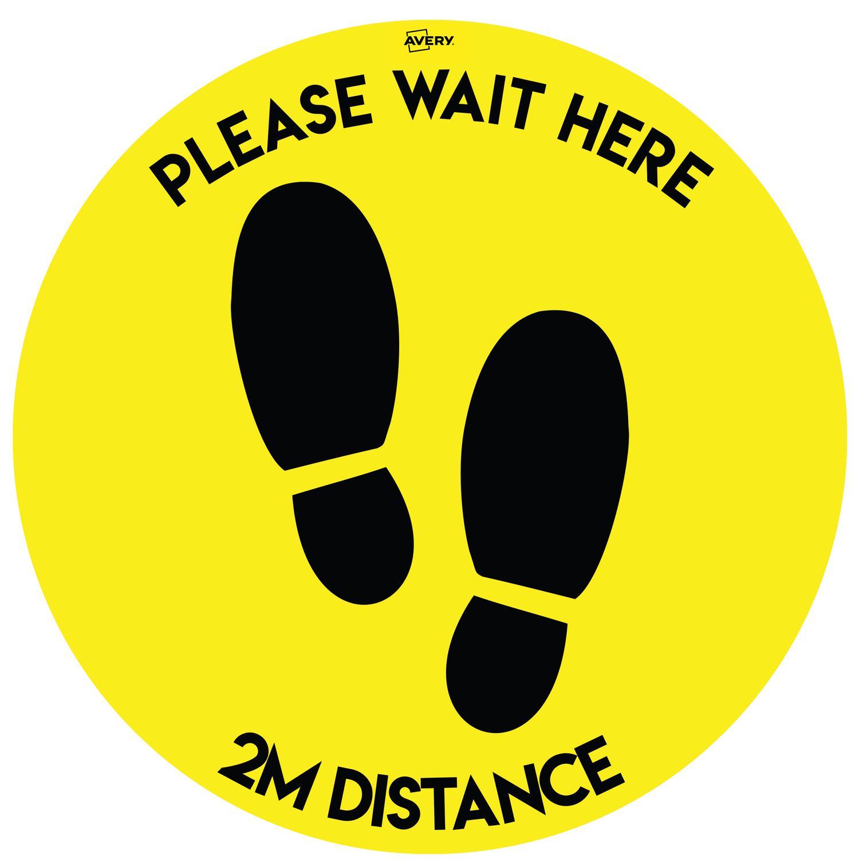 Avery Covid19 Social Distance Floor Sticker 405mm Pk2