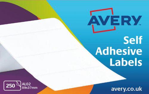 Avery Address Labels Typewriter Roll 89x37mm White Ref AL02 [250 Labels]