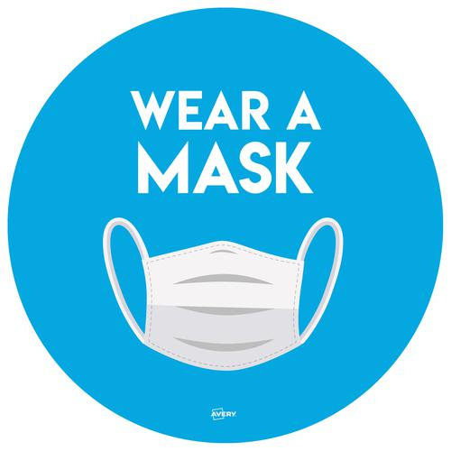 Wear A Mask Circular lbl 275mm