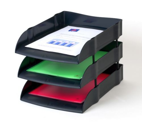 Avery Eco Friendly Letter Tray Black
