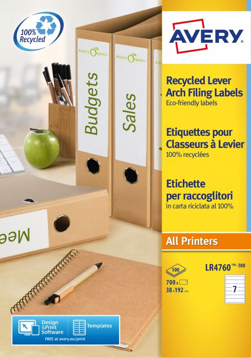 Avery Recycled Filing Labels 7 Per Sheet 700 Labels
