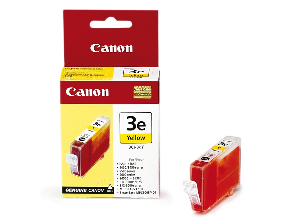 Image for Canon BCI-3eY Yellow Inkjet Cartridge