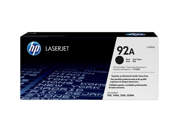 Hewlett Packard [HP] No. 92A Laser Toner Cartridge Page Life 2500pp Black Ref C4092A