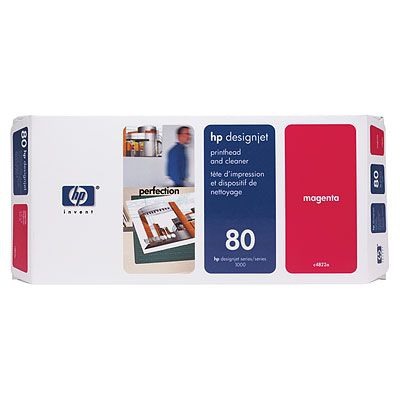 Hewlett Packard [HP] No. 80 Inkjet Printhead and Cleaner Magenta Ref C4822A