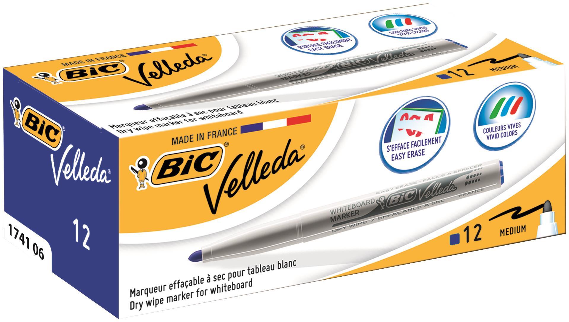 Bic Velleda Marker 1741 BL PK12