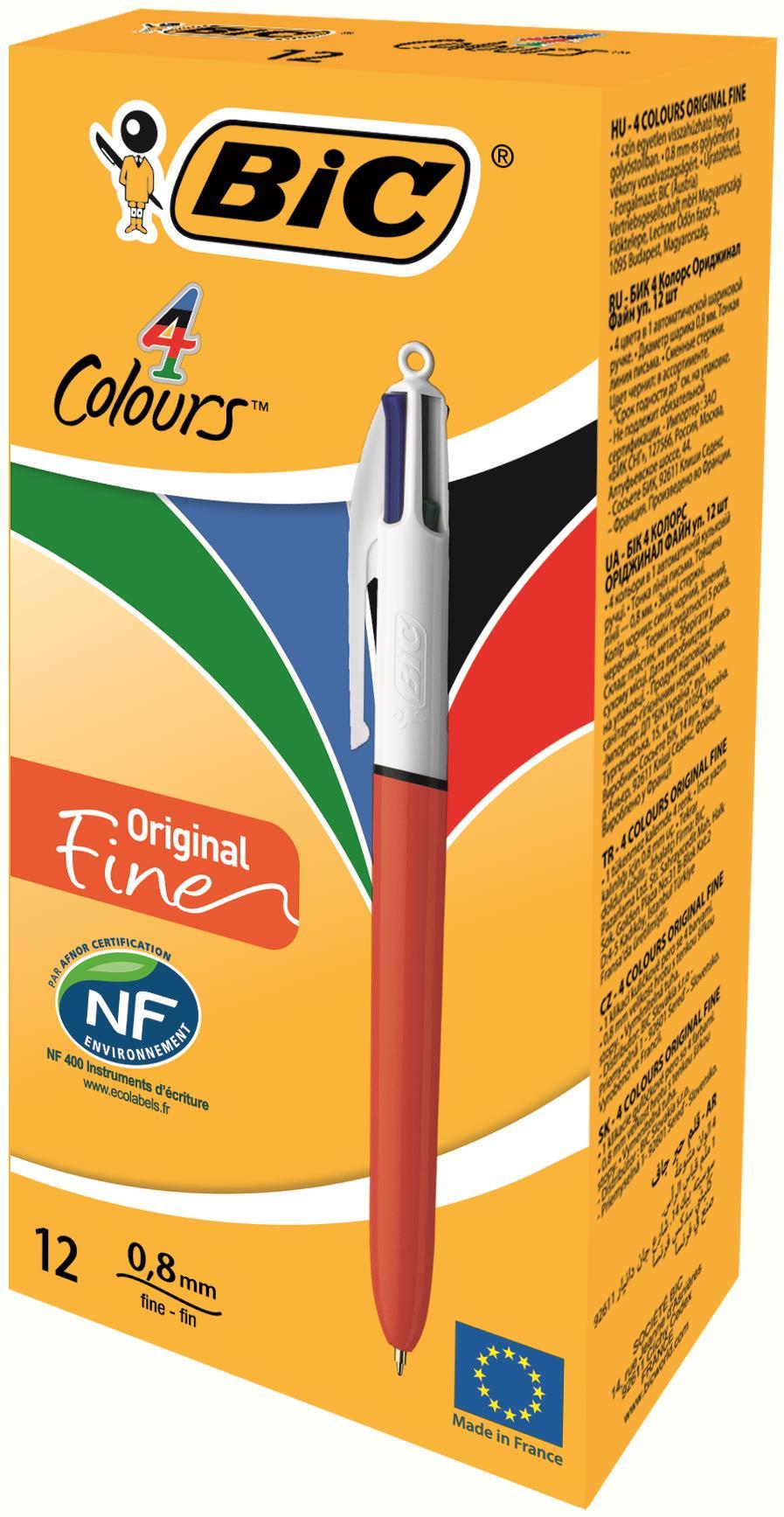 Bic 4 Colour Fine PK12