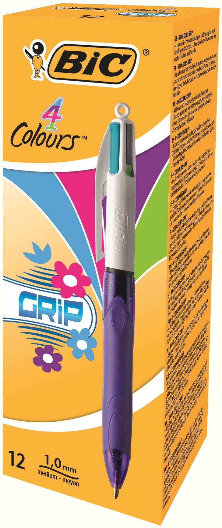 Bic 4 Colour fshon Rtrctble Astd PK12