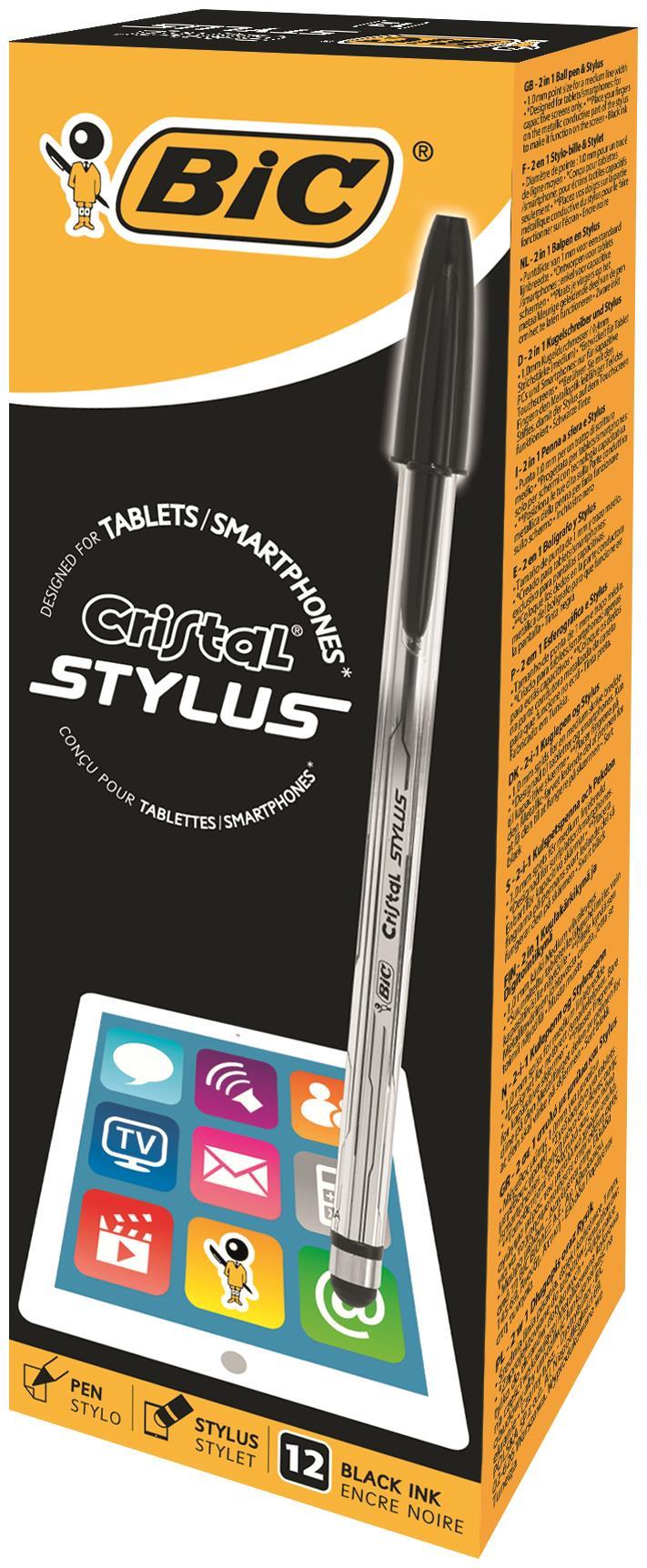Bic Cristal Stylus Pen BK PK12