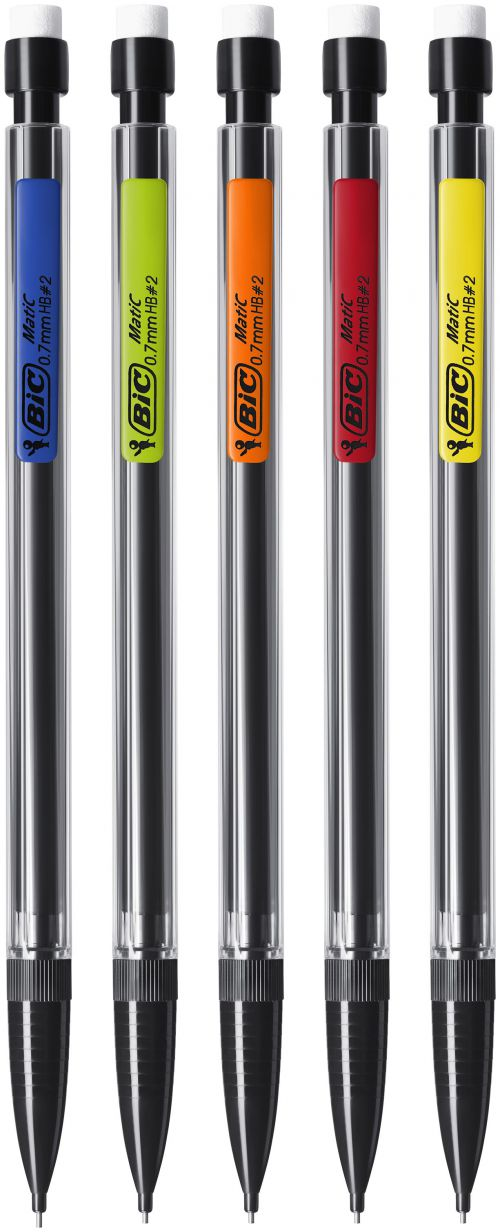 Bic Matic Mechanical Pencil with 3 x HB 0.7mm Lead Ref 820959 [Pack 12]