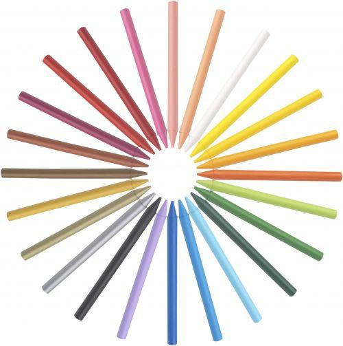 Bic Kids Plastidecor Crayons Colour Hard Long-lasting Sharpenable Vivid Assorted Ref 829772 [Pack 24]