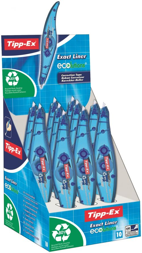 Tipp-Ex Exact Liner Ecolutions Correction Roller (Pack of 10) 810475
