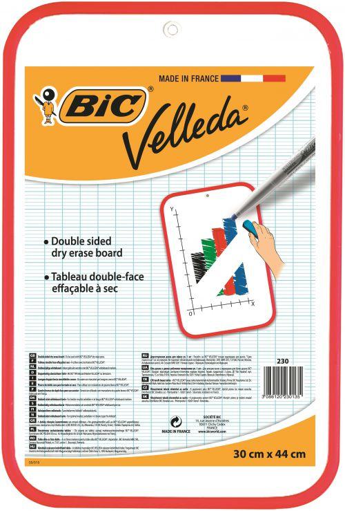 Bic Velleda Red Dry Wipe Board 300x440mm