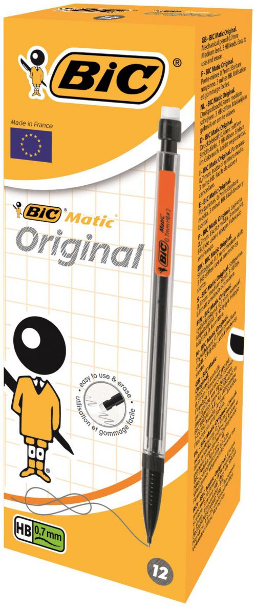 Bic Matic Mechanical Pencil Medium Pk12