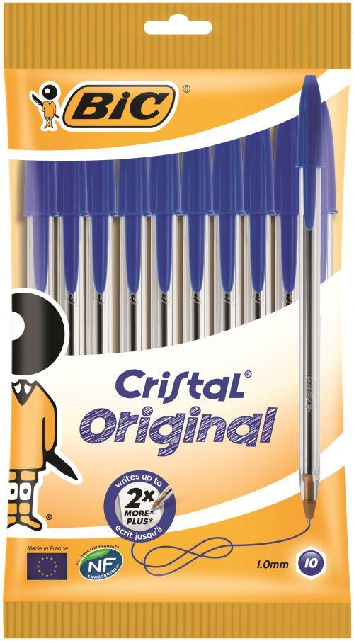 Bic Cristal Medium Blue PK10