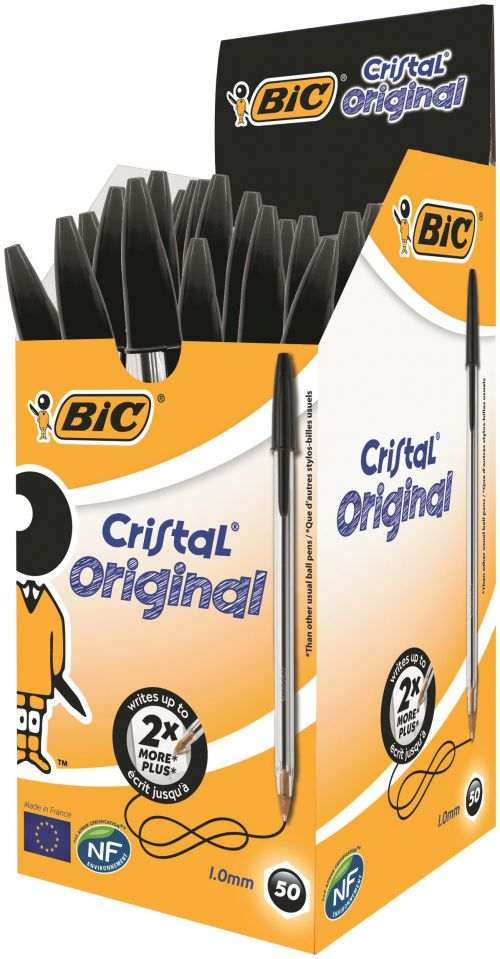 BIC Cristal Original Ballpoint Pen Medium Black 8373632