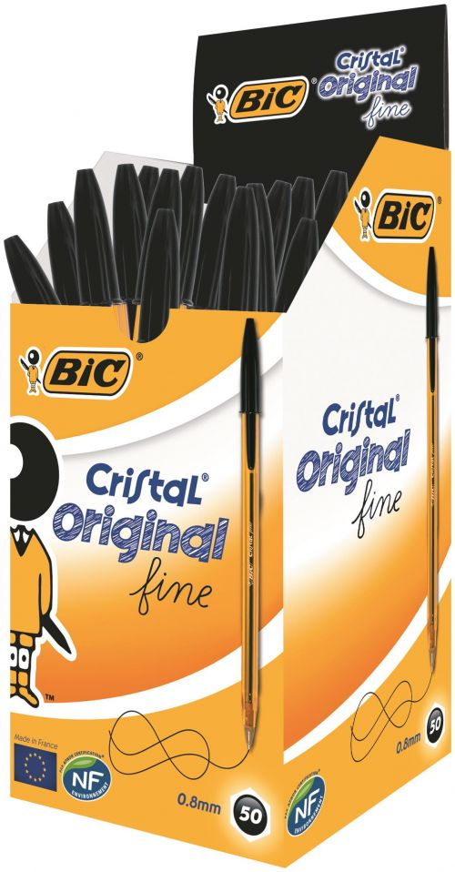 Bic Cristal Ball Pen Fine Black PK50