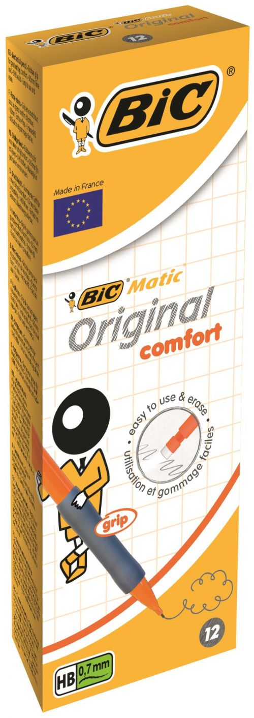 Bic Matic Grip Autopencil 0.7mm Assorted PK12
