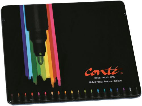 Bic Conte Colouring Felt Pens PK20
