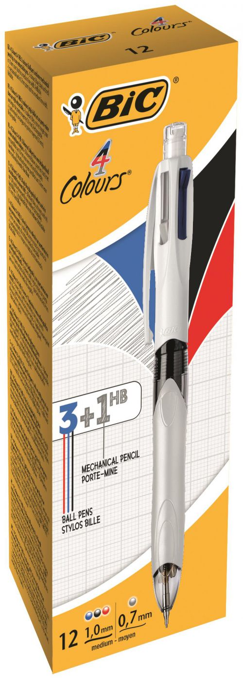 Bic 4 Colours Multifunction Black/Blue/Red/Pencil PK12