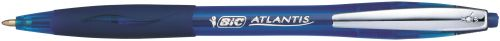 Bic Atlantis Soft Ball Pen Retractable Medium 1.0mm 0.32mm Line Blue Ref 902132 [Pack 12]