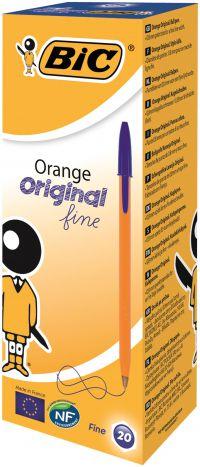 Bic Orange Fine Ballpoint Pen Blue (Pack of 20) 1199110111