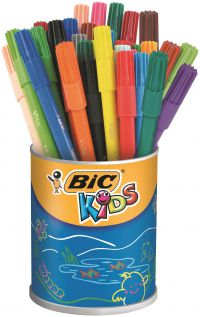 Bic Kids Visa Felt Pens Ultra Fine Tip Assorted (Pack of 36) 829012