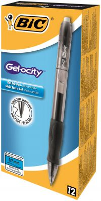 Bic Gelocity Gel Pen Retractable Medium Black 829157