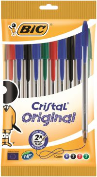 Bic Cristal Ballpoint Pen Medium Assorted 830865