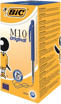 Bic M10 Clic Ballpoint Pen Medium Blue (Pack of 50) 901218