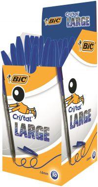 Bic Cristal Large Ballpoint Pen 1.6mm Blue (Pack of 50) 880656