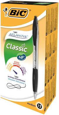 Bic Atlantis Retractable Ball Point Pen Black 1199013671