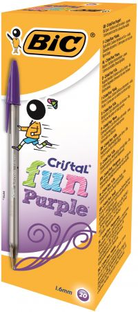 Bic Cristal Fun Ballpoint Pen Large Purple (Pack of 20) 929055