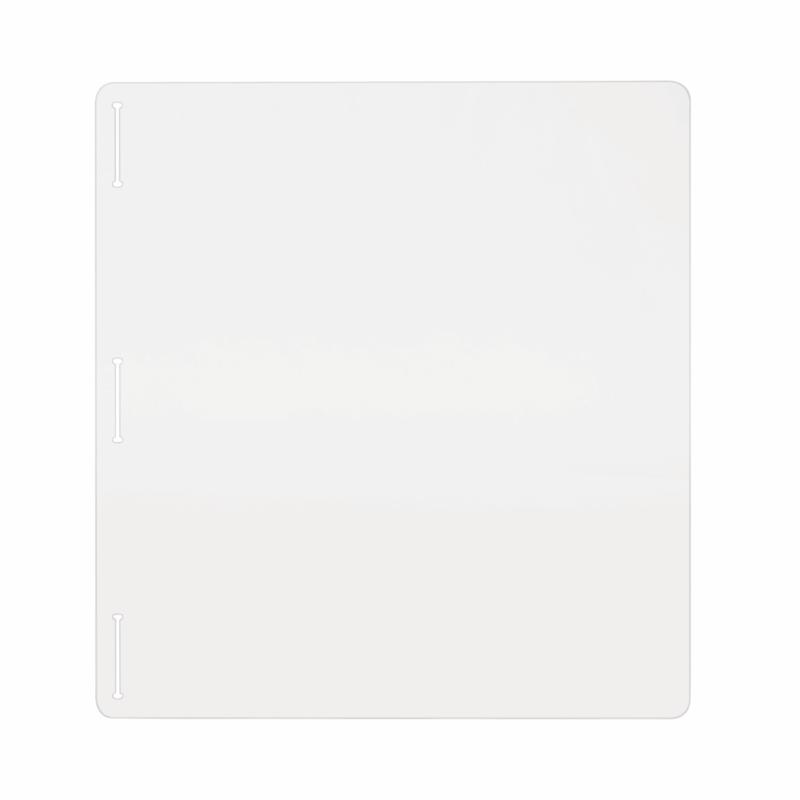 Bi-Office Acrylic Protective Divider Screen Side Panel 1200x650mm Clear