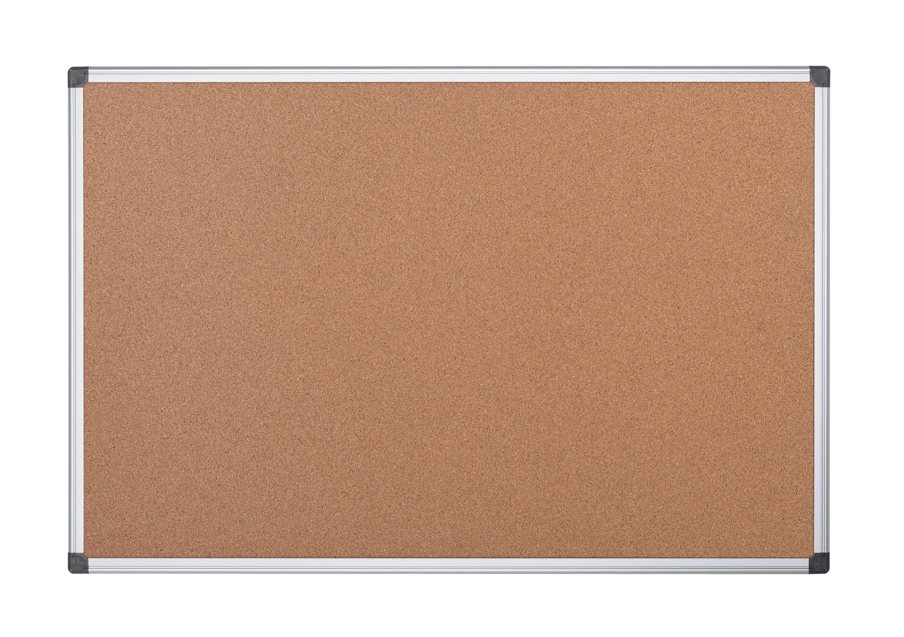 Cork Bi-Office Maya Cork Noticeboard Double Sided Aluminium Frame 900x600mm