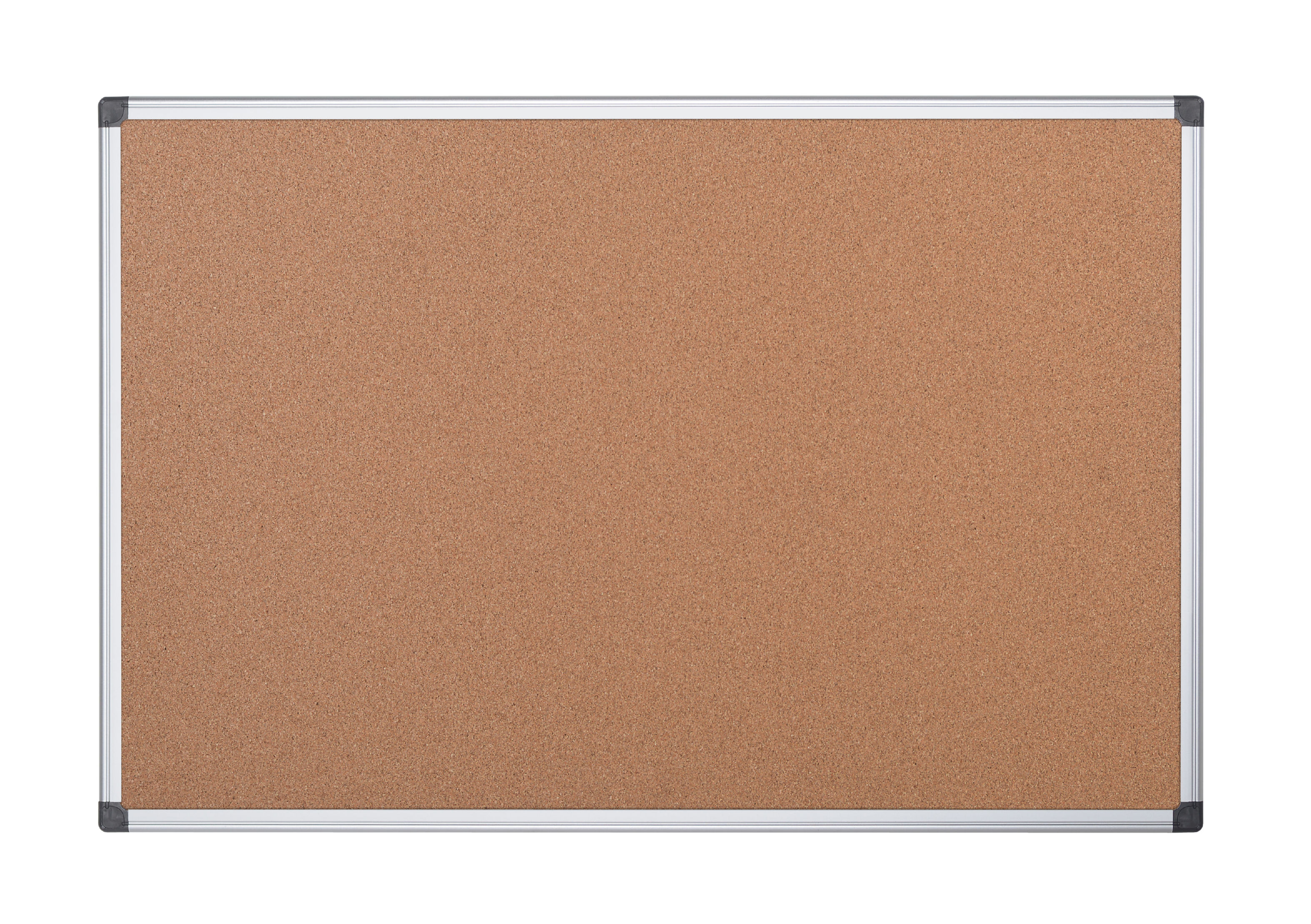 Cork Bi-Office Maya Cork Noticeboard Double Sided Aluminium Frame 900x900mm