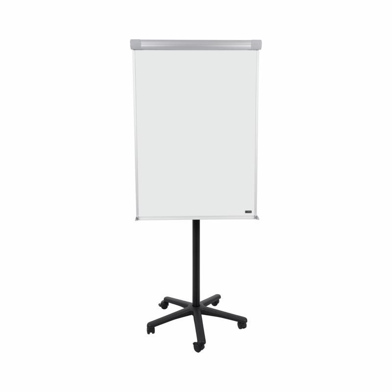Easels Bi-Office Classic Mobile Flipchart Easel Magnetic 700x1000mm Grey