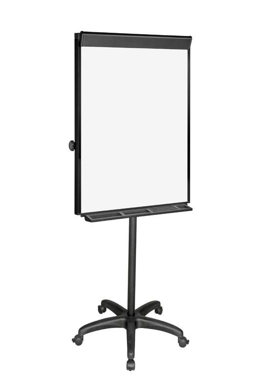 Easels Bi-Office Vanguard Mobile Flipchart Easel Magnetic 700x1000mm Black