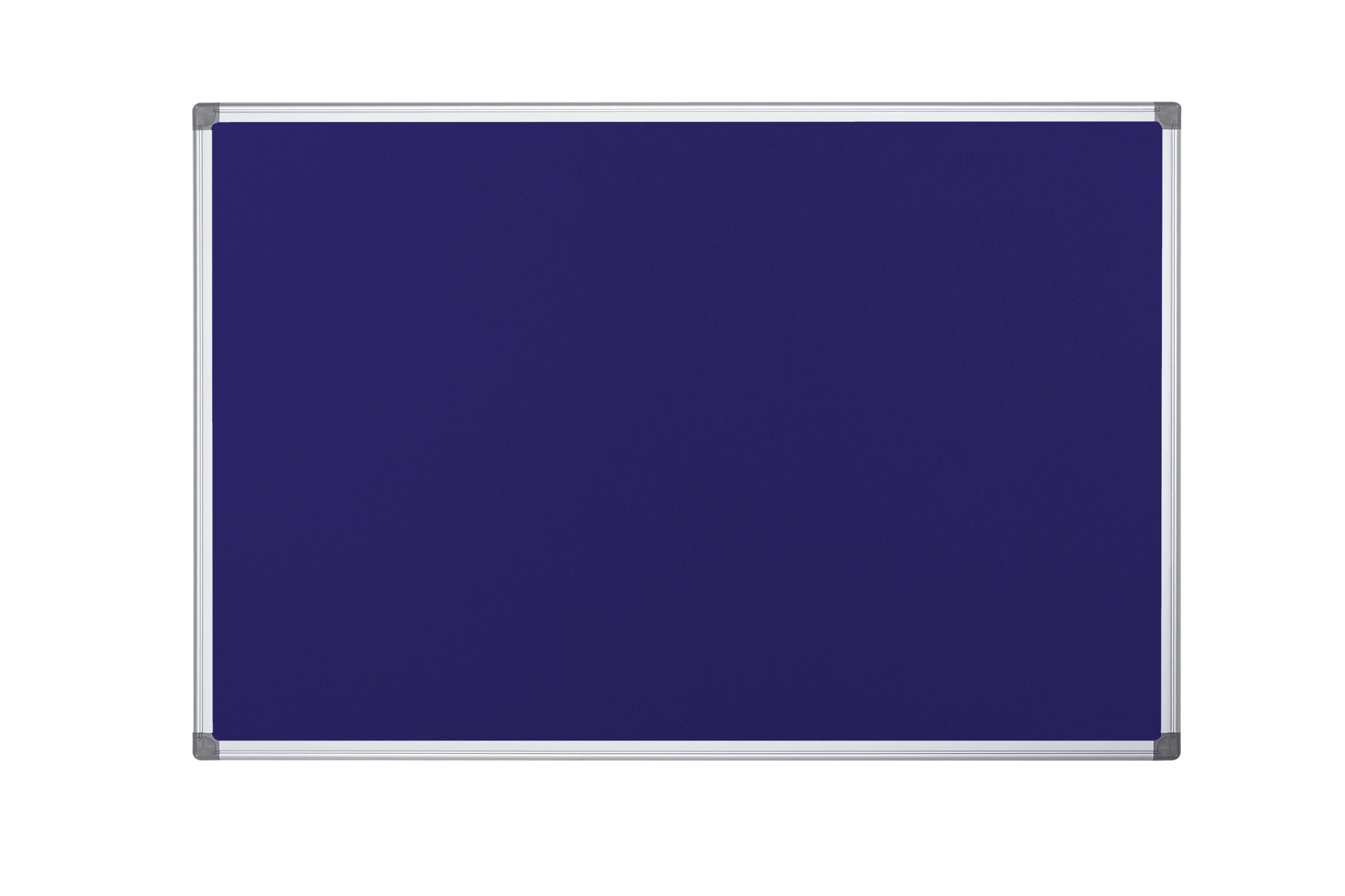 Felt Bi-Office Maya Blue Felt Noticeboard Double Sided Aluminium Frame 900x600mm