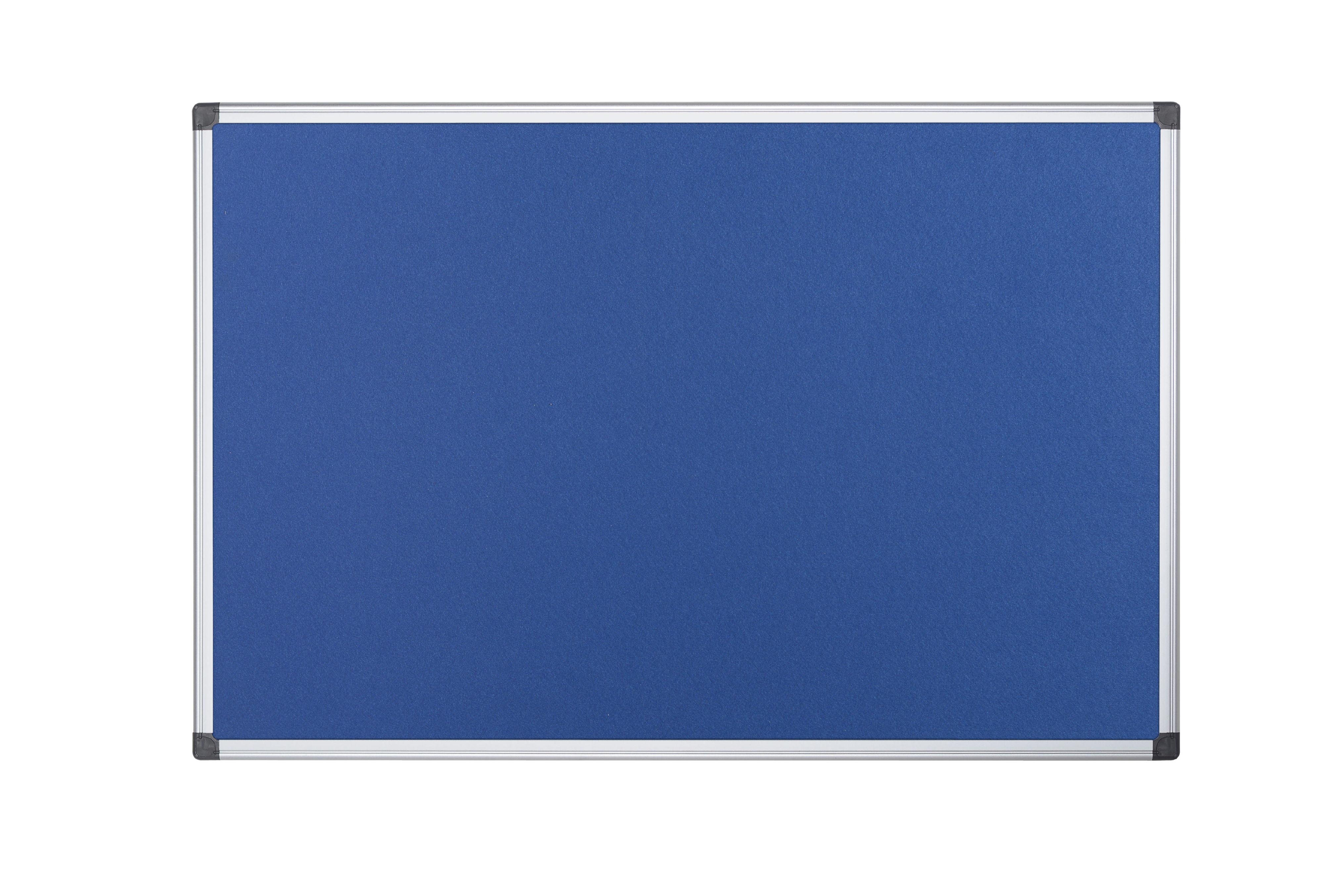 Felt Bi-Office Maya Blue Felt Ntcbrd Alu Frame 150x120cm