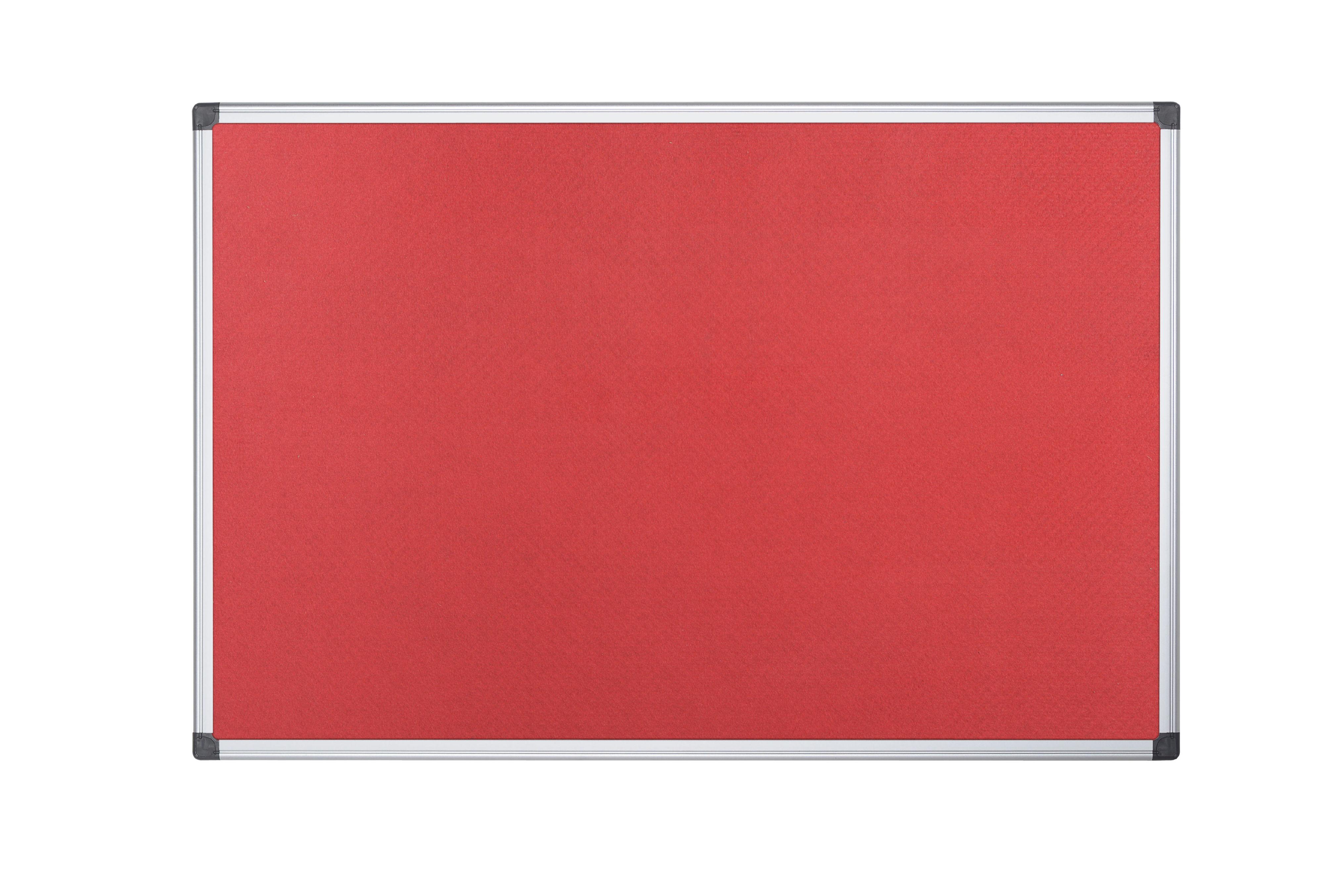 Felt Bi-Office Maya Red Felt Noticeboard Aluminium Frame 2400x1200mm