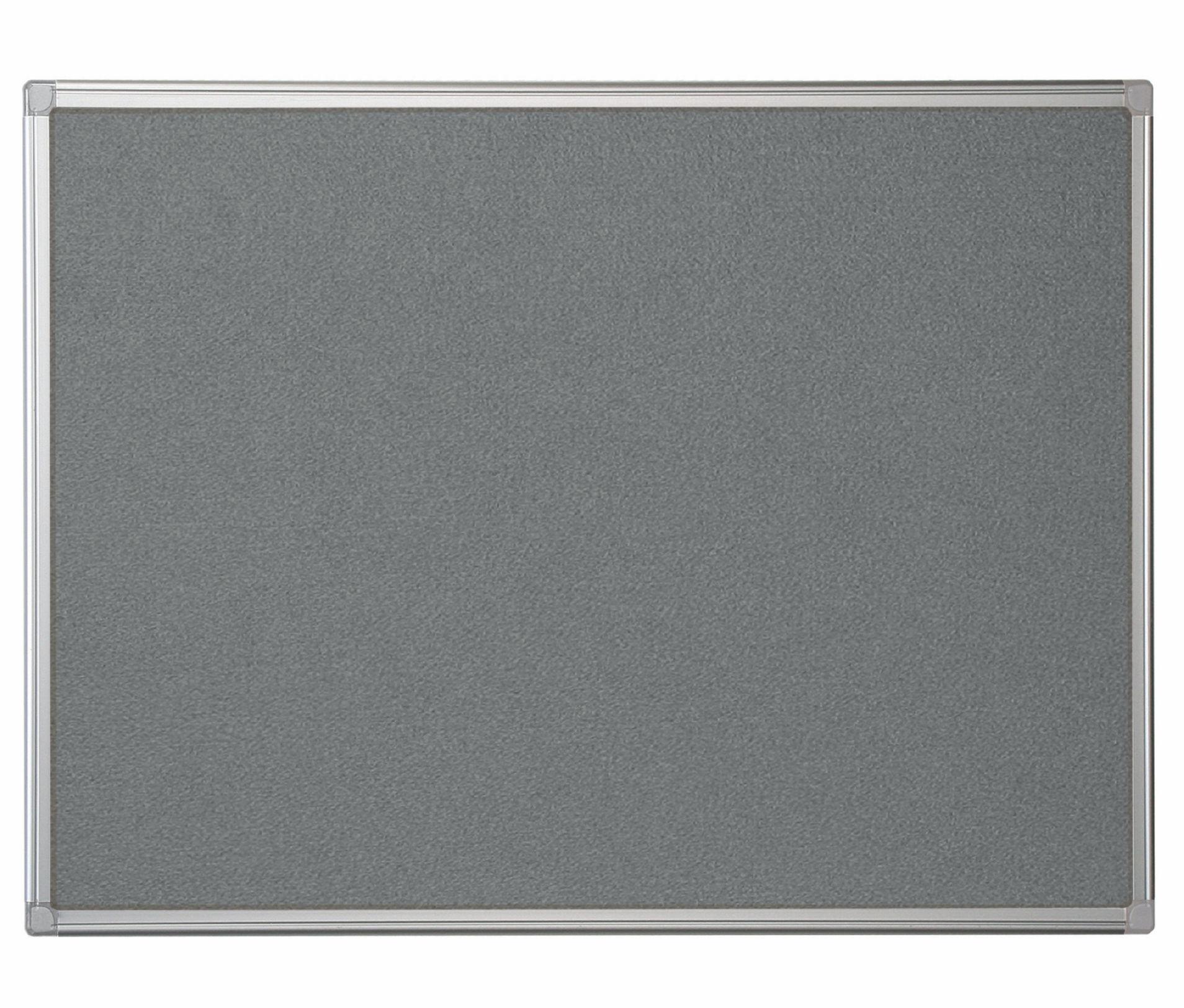 Felt Bi-Office Maya Grey Felt Noticeboard Aluminium Frame 1800x1200mm