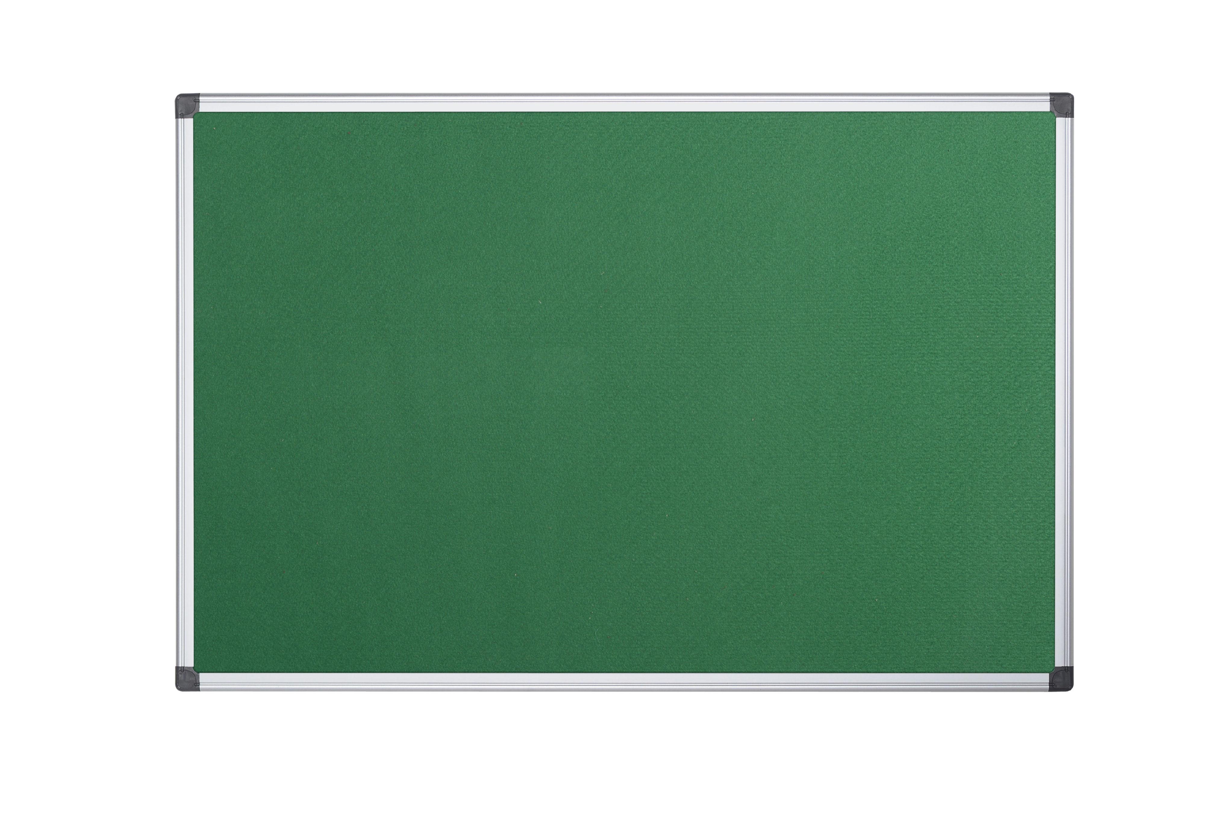 Felt Bi-Office Maya Green Felt Noticeboard Aluminium Frame 1800x1200mm