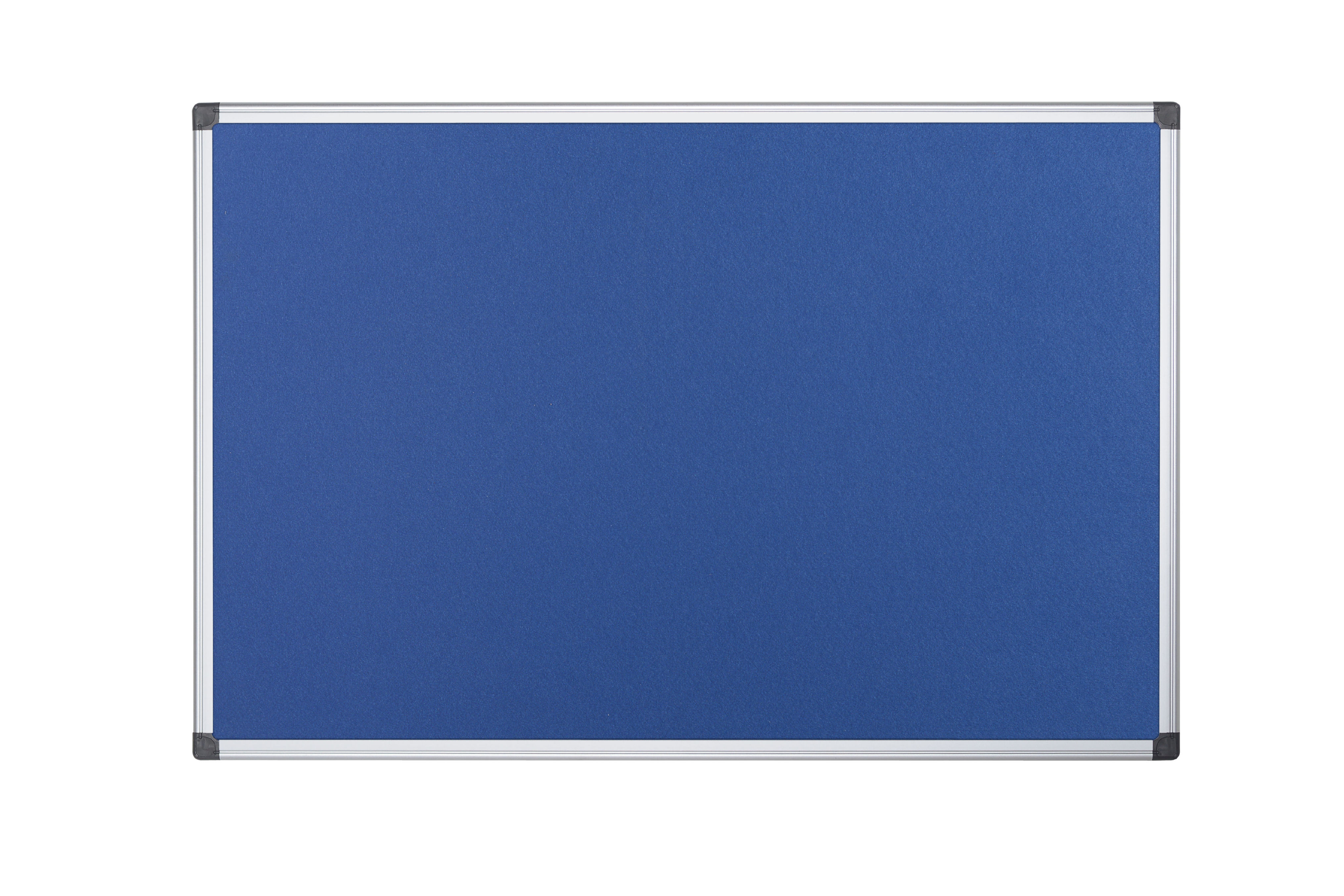 Felt Bi-Office Maya Blue Felt Noticeboard Aluminium Frame 1200x1200mm