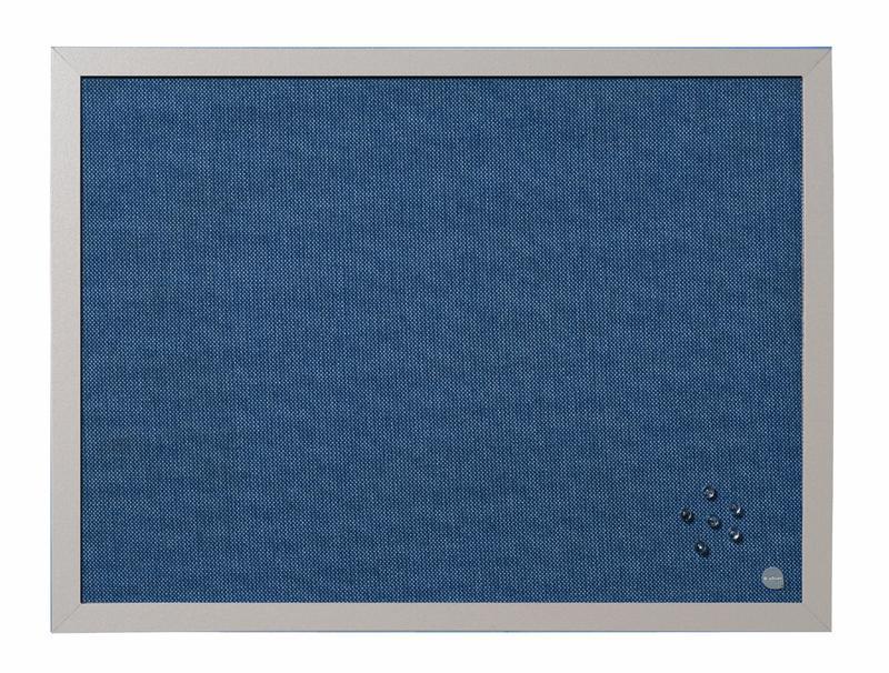 Bi-Office Blue Bells Pearl Noticeboard Aluminium Frame 600x450mm