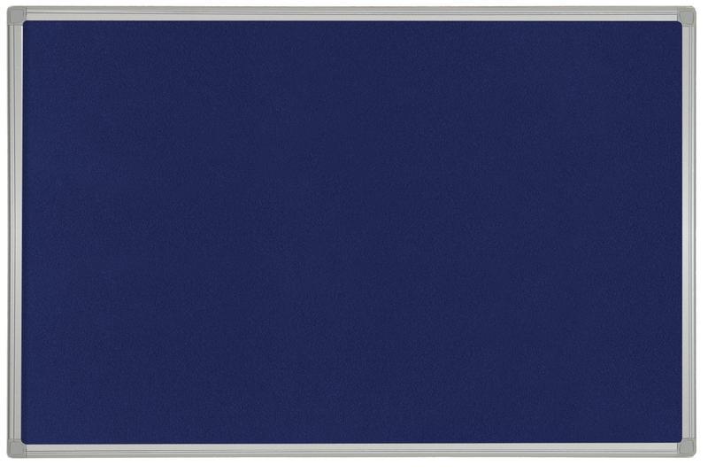Felt Bi-Office Maya Blue Felt Noticeboard Plastic Frame 600x450mm