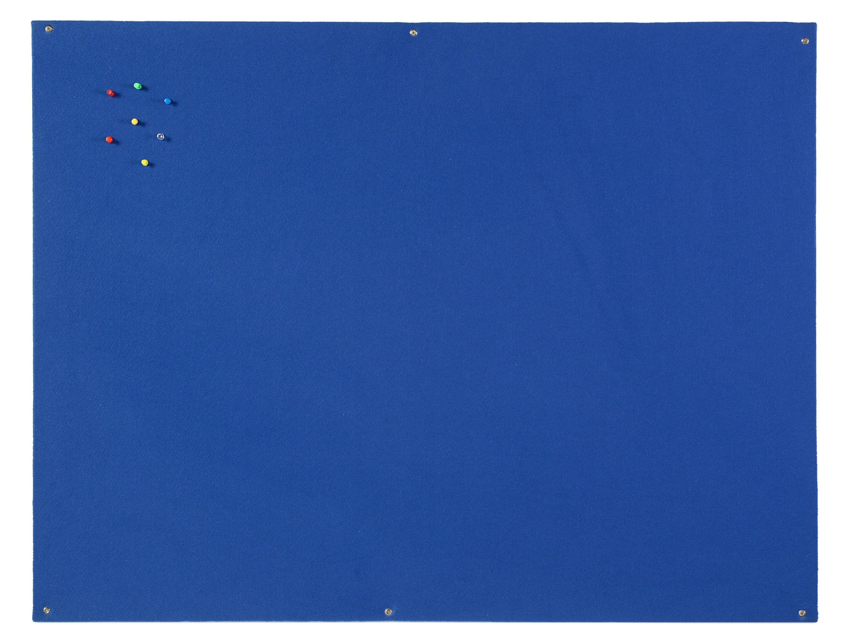 Felt Bi-Office Blue Felt Noticeboard Unframed 900x600mm